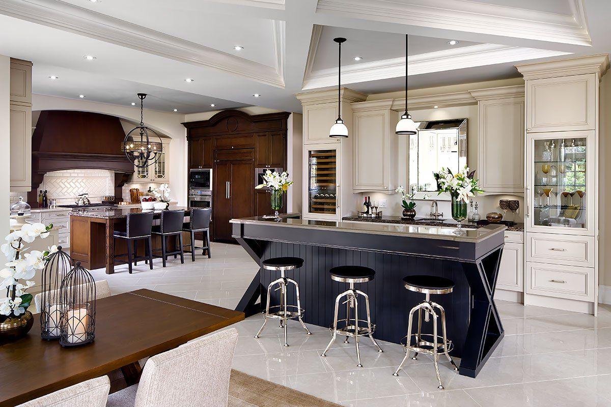 дизайн интерьера кухня гостиная современная классика
