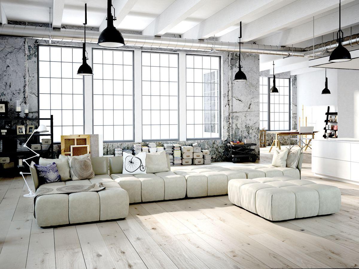 эффектный дизайн квартиры в стиле лофт