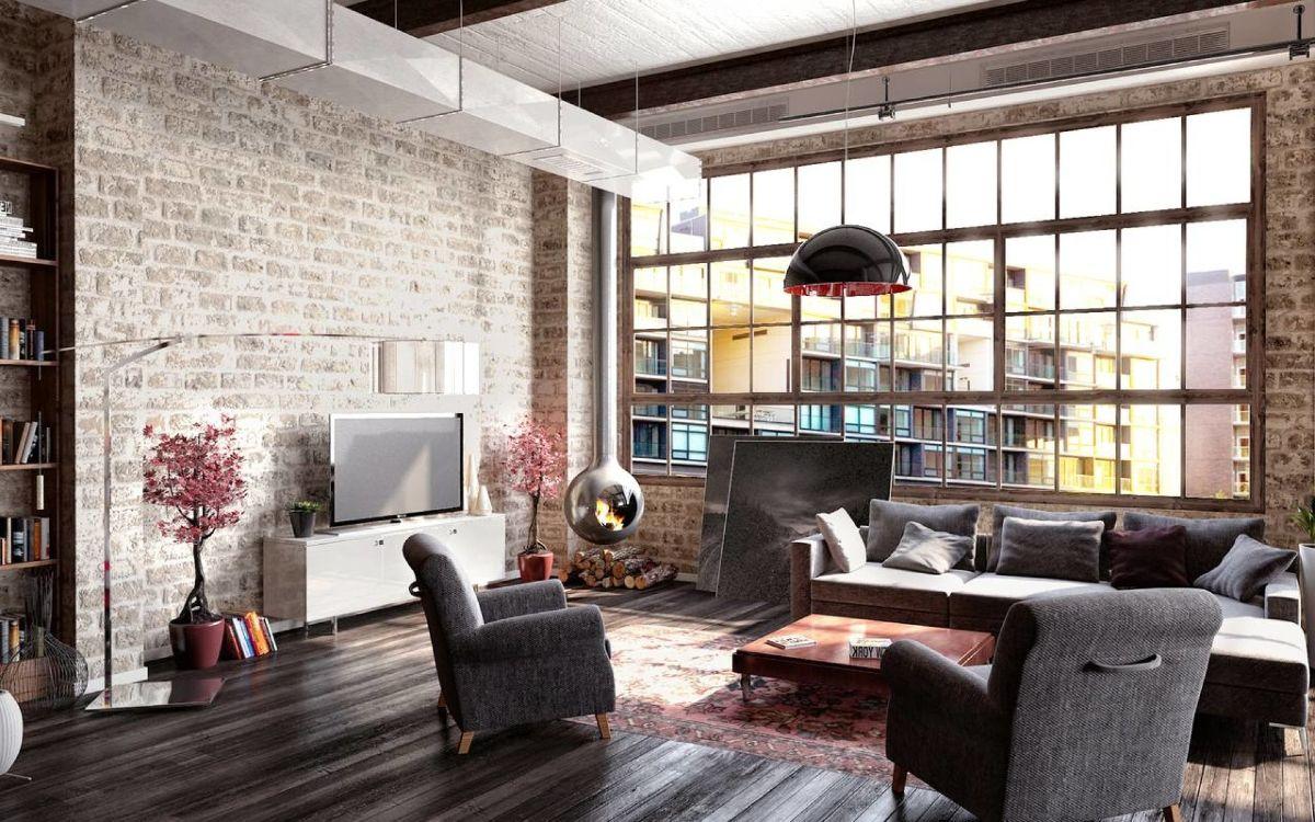 индустриальный дизайн квартиры в стиле лофт
