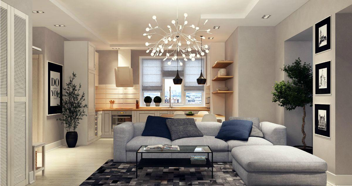 интерьер маленькой квартиры эффектный дизайн