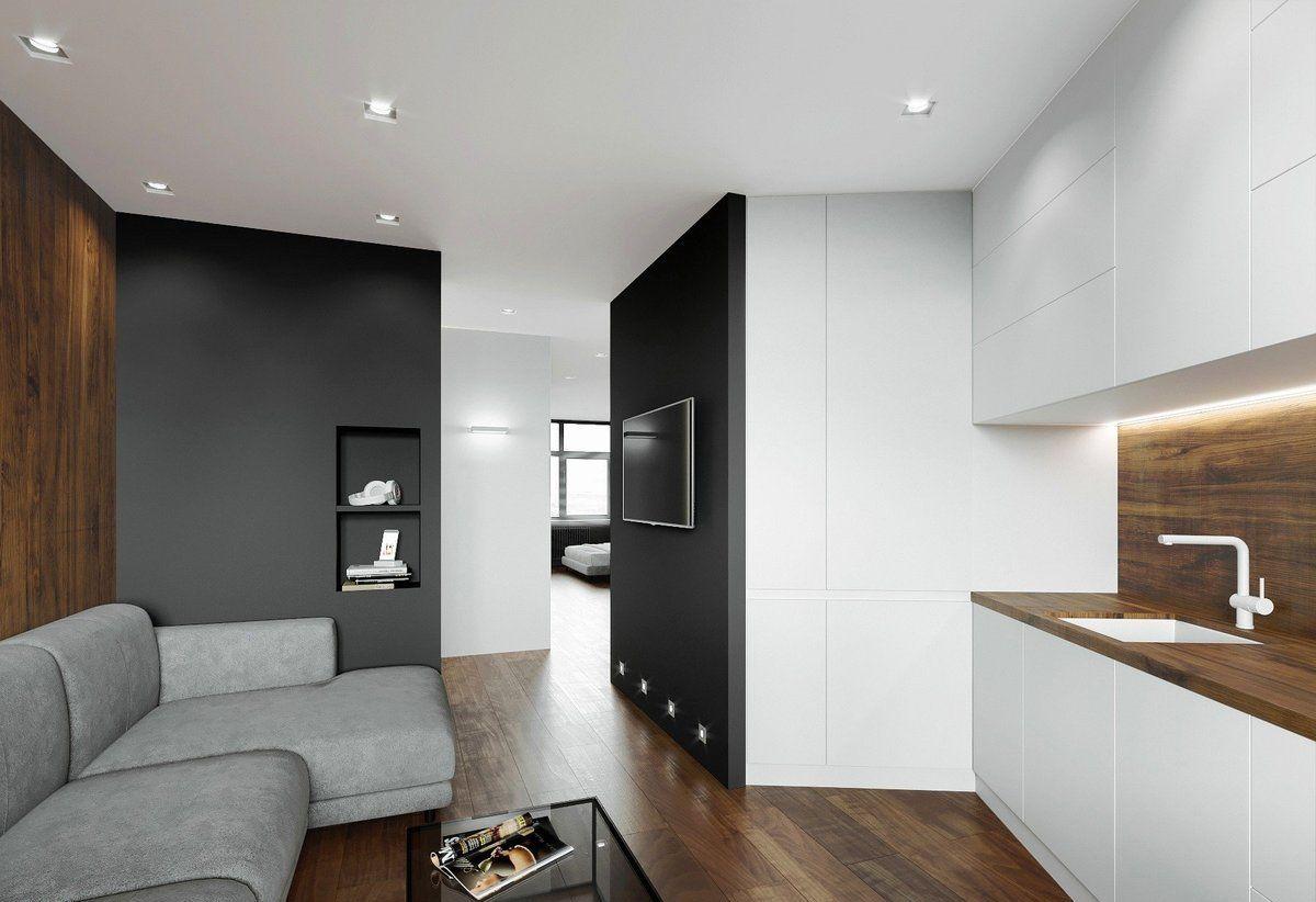 интерьер маленькой квартиры минималистический дизайн