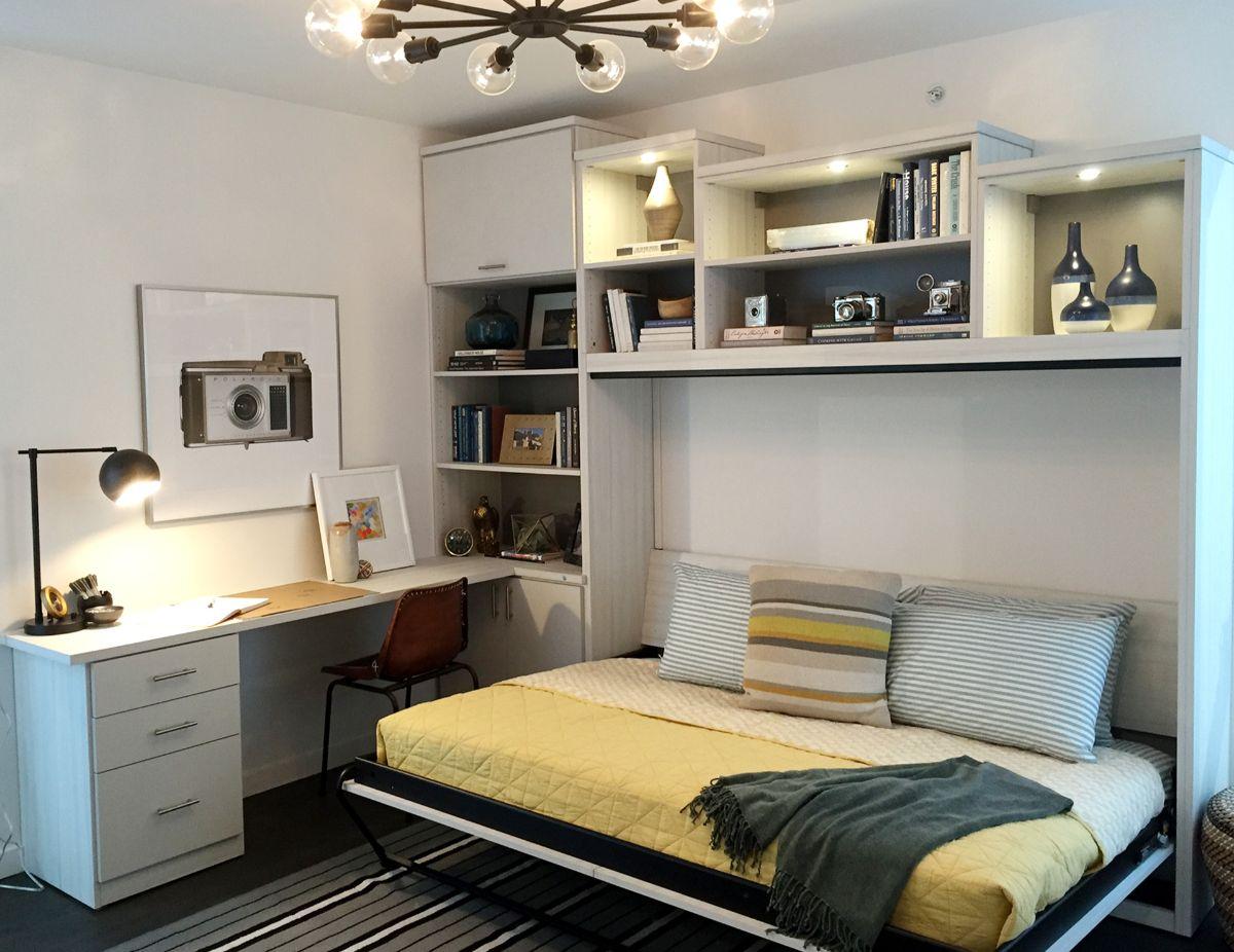 интерьер маленькой квартиры откидная кровать