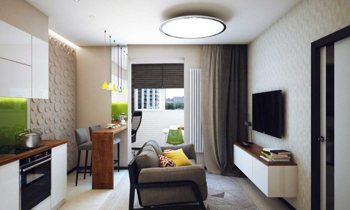 интерьер маленькой квартиры пример рационального использования пространства
