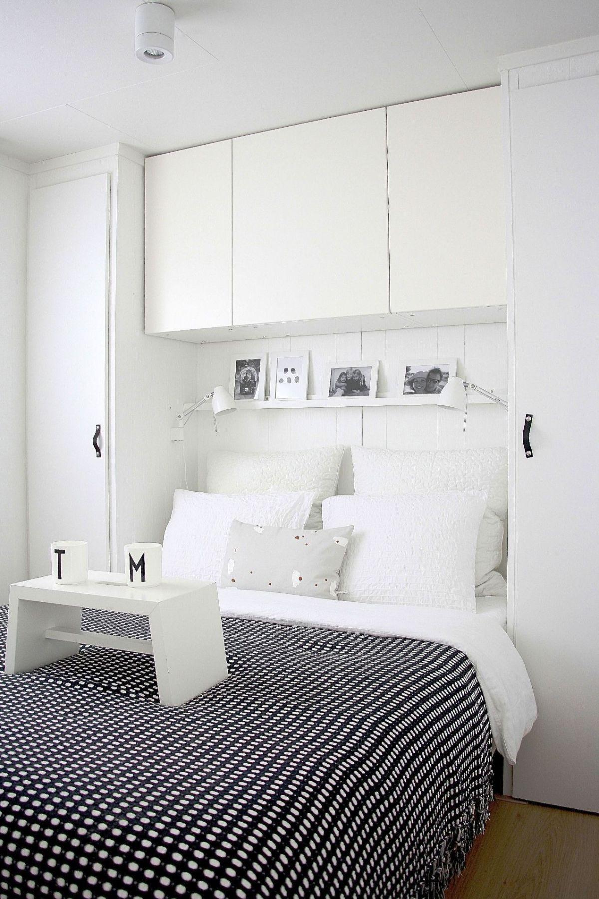 интерьер маленькой квартиры система хранения в спальне
