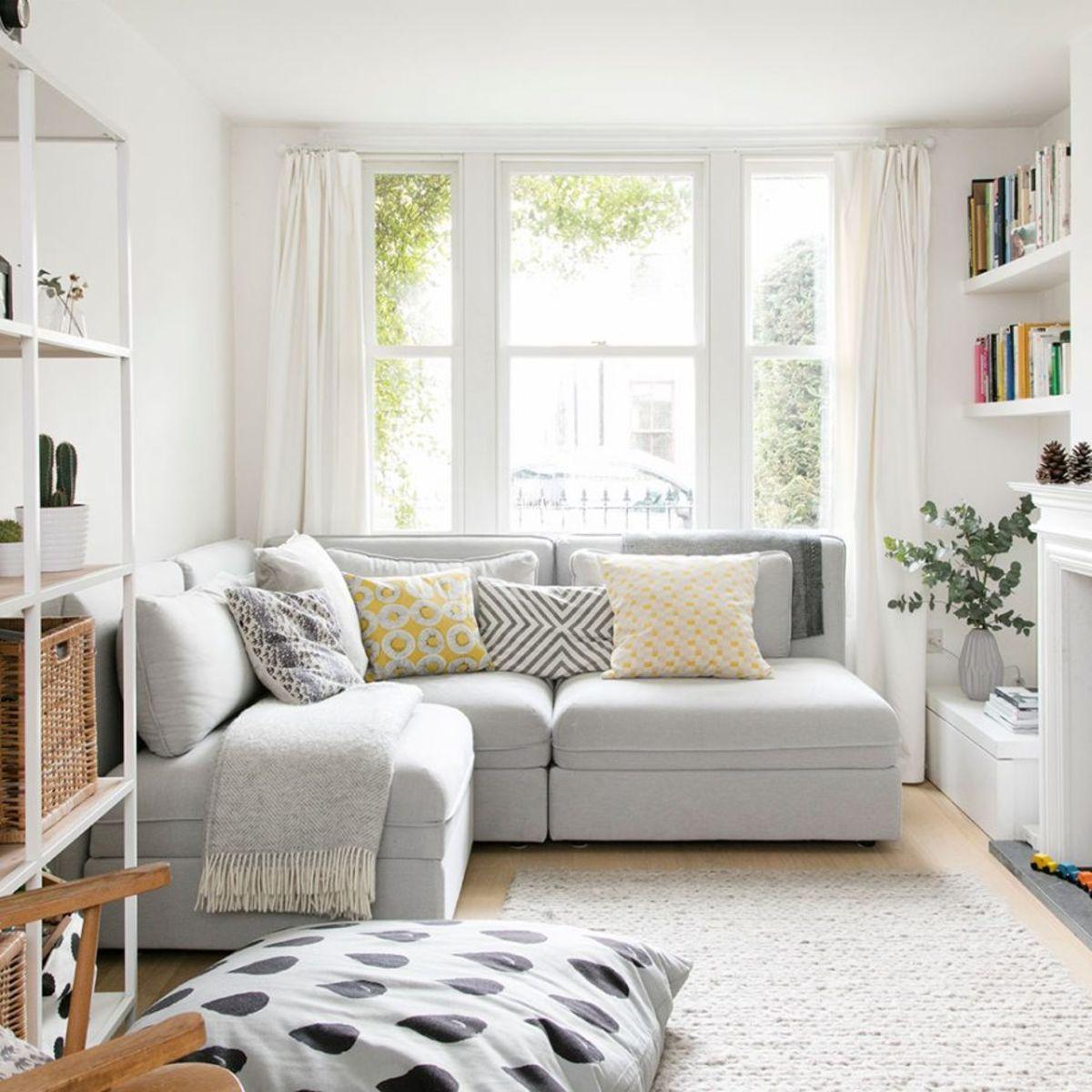 интерьер маленькой квартиры студии белый цвет для расширения пространства