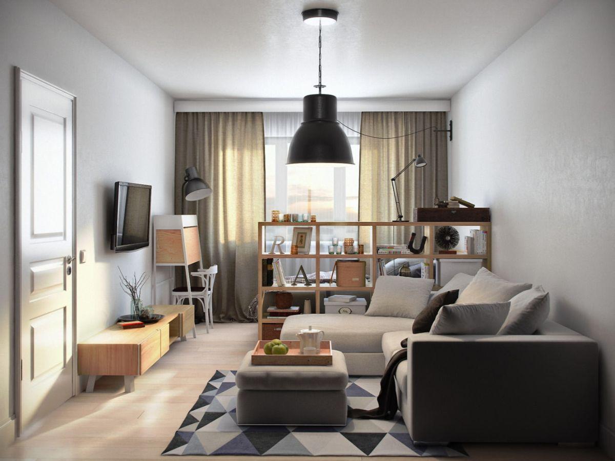 интерьер маленькой квартиры студии пример дизайна
