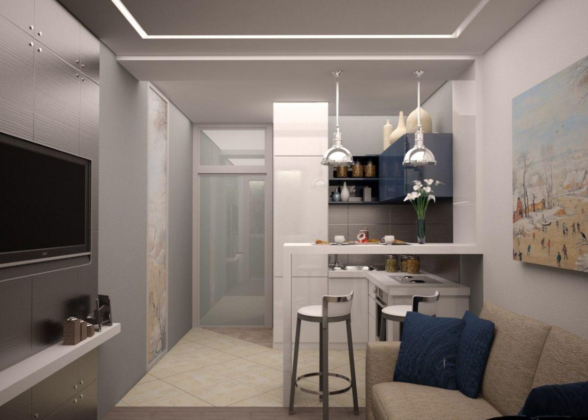 интерьер маленькой квартиры студии пример оптимизации пространства