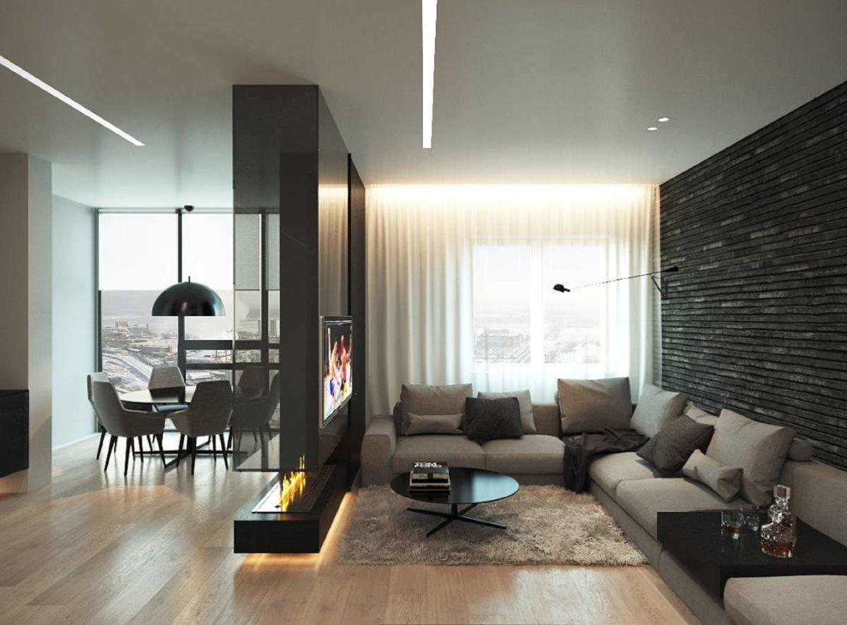 интерьер маленькой квартиры студии роскошный дизайн