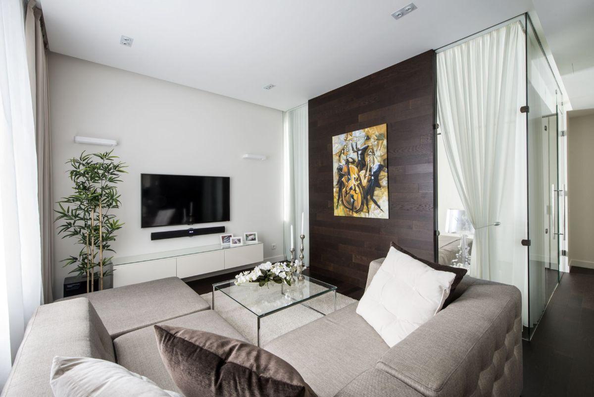интерьер маленькой квартиры студии сдержанный дизайн