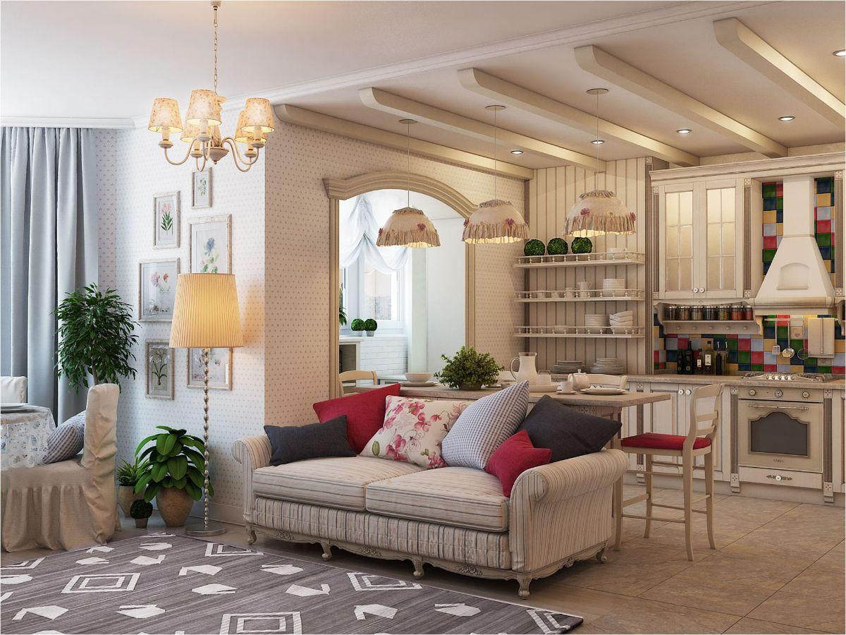 интерьер маленькой квартиры студии винтажный дизайн