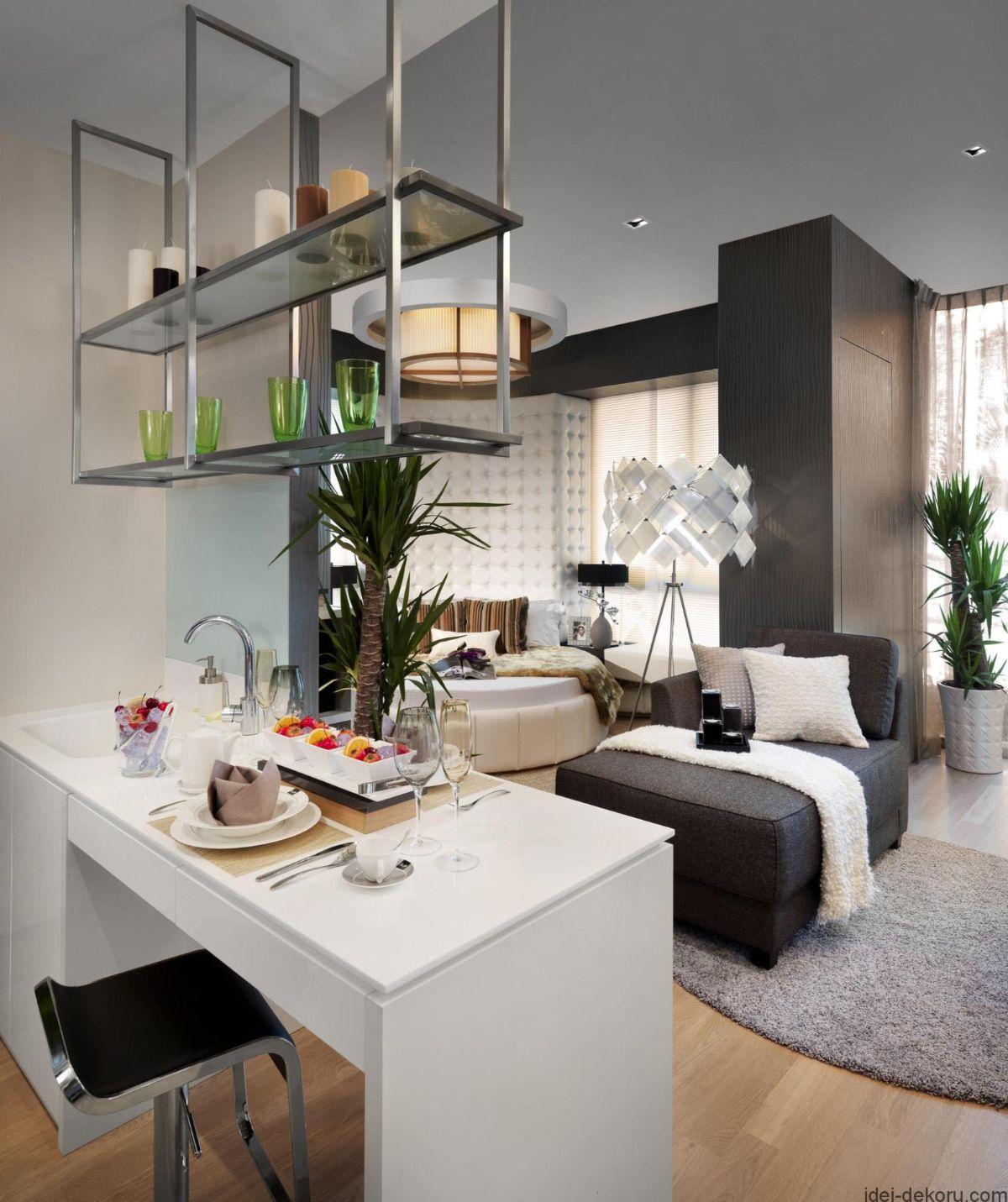 кухня гостиная дизайн интерьера в квартире