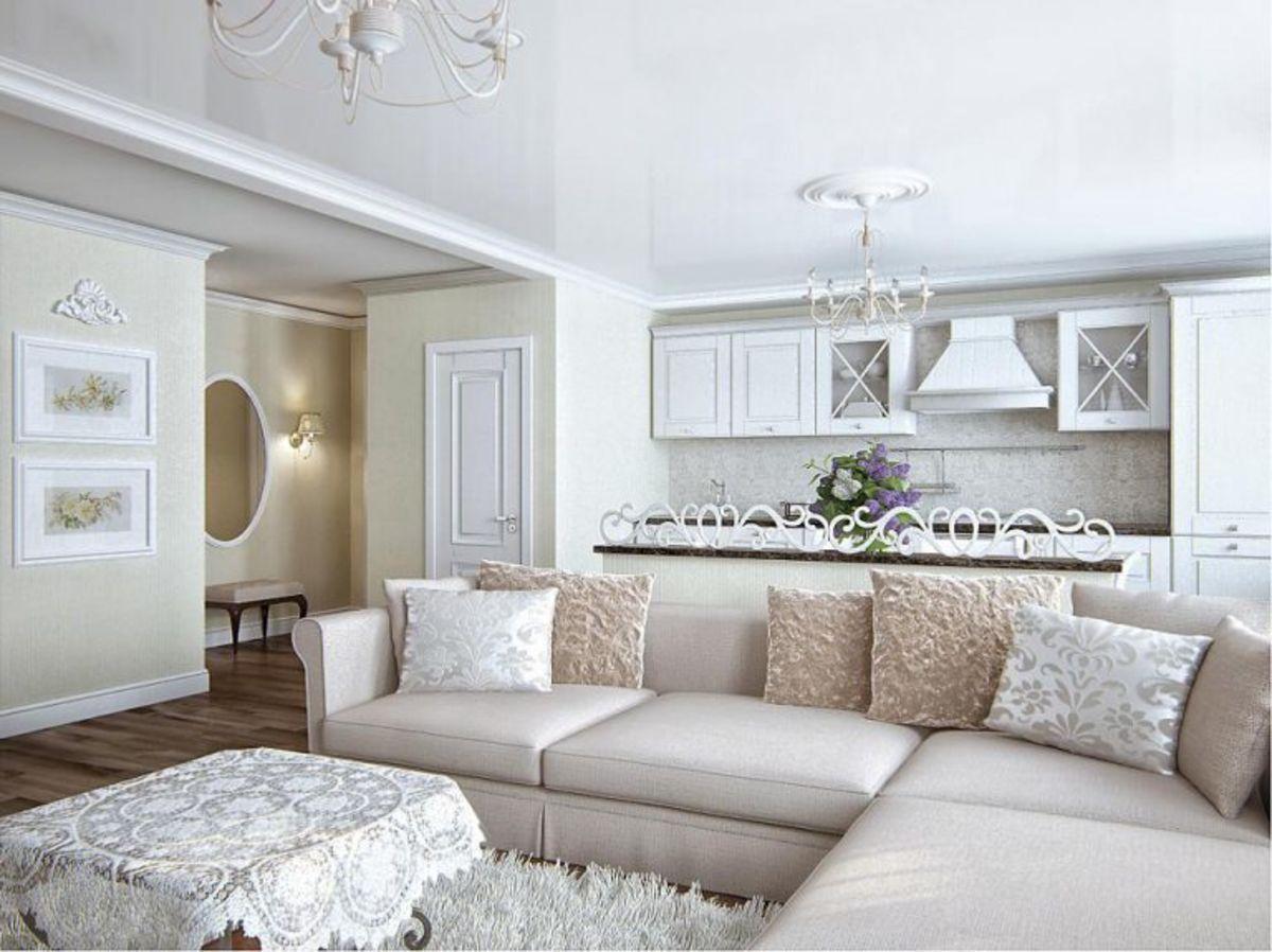 кухня гостиная фото дизайна интерьера классика