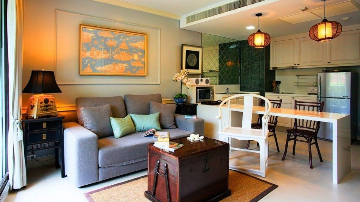 кухня гостиная фото дизайна интерьера с эффектным сундуком