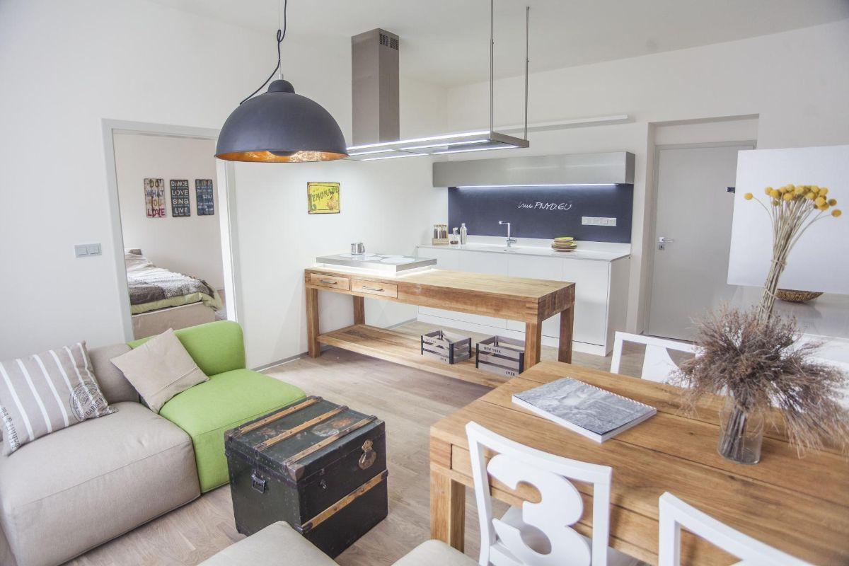 кухня гостиная креативный дизайн интерьера