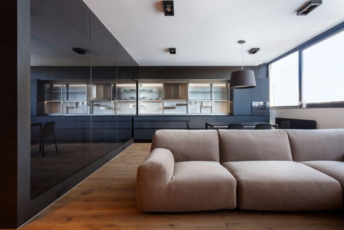 кухня гостиная пример дизайна с минималистическим подходом