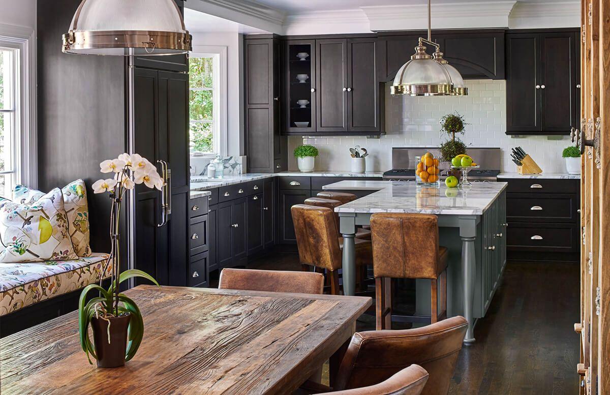 кухня гостиная пример классического дизайна