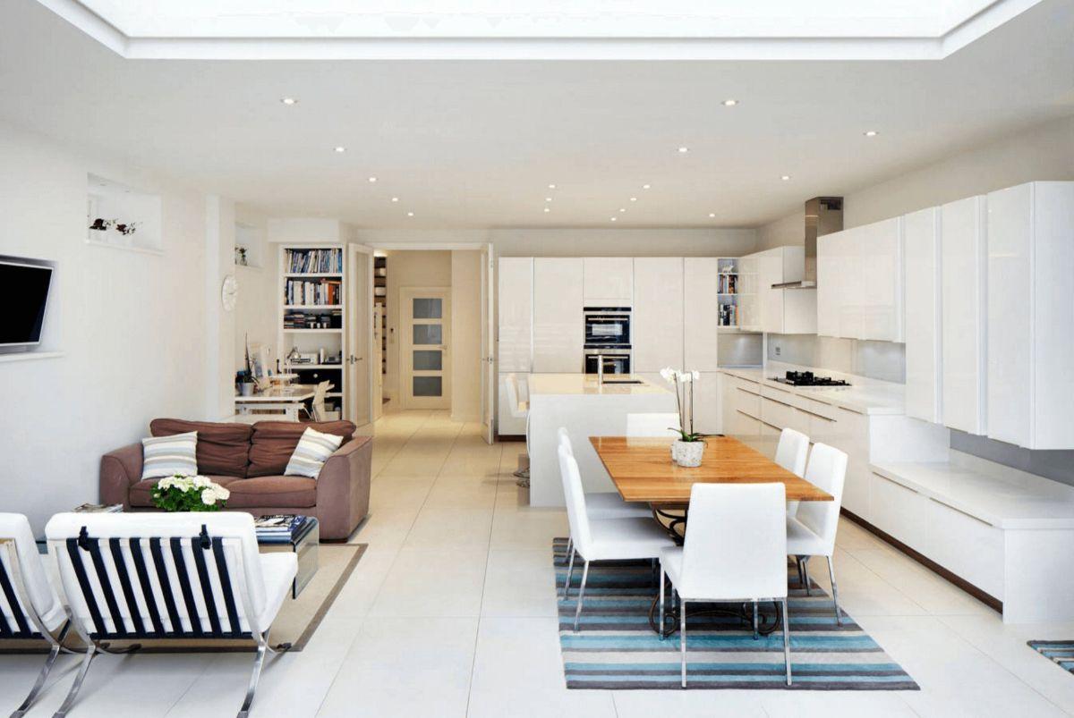 кухня гостиная пример скандинавского дизайна интерьера