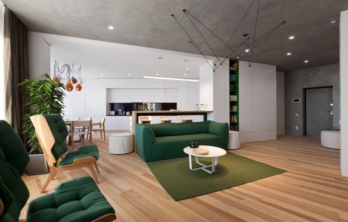кухня гостиная роскошный дизайн интерьера в частном доме
