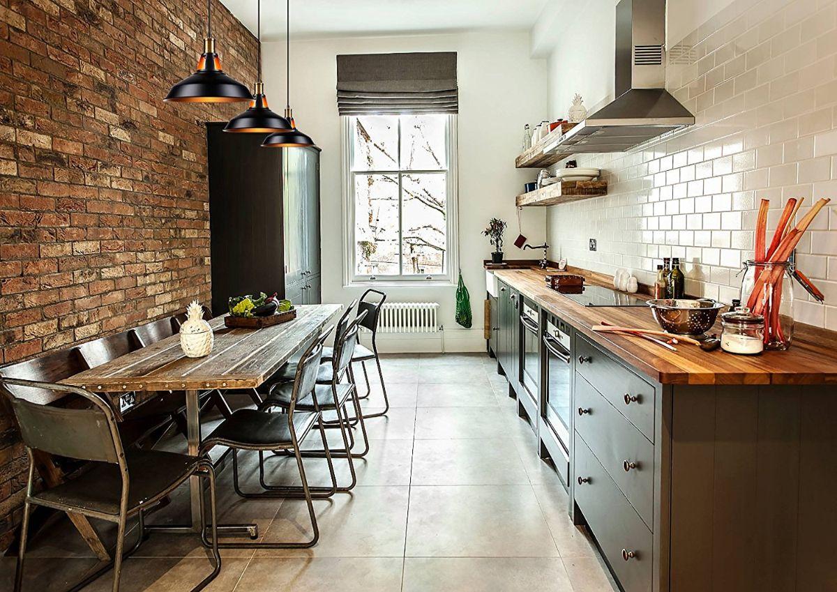 кухня в стиле лофт промышленный дизайн
