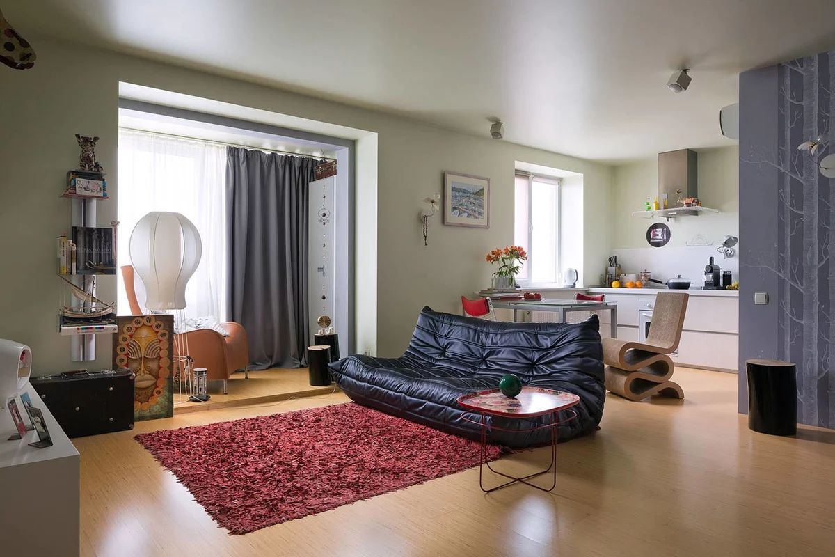 квартира студия дизайн на 55 кв м