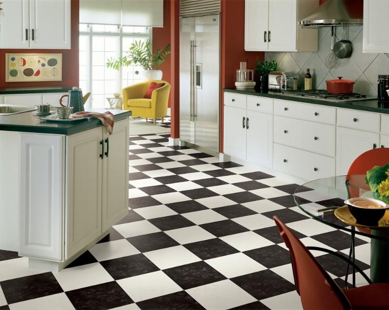 Полы на кухне: линолеум для кухни