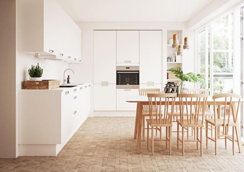 Полы на кухне: линолеум в кухонном интерьере