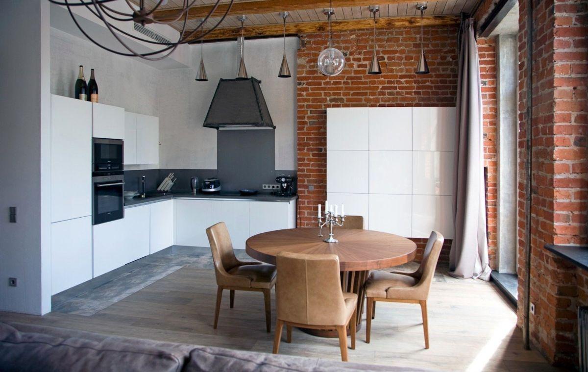 лофтовый дизайн в небольшой квартире