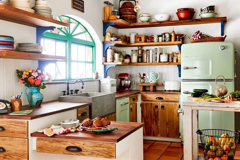 плитка на кухне в стиле эклектика