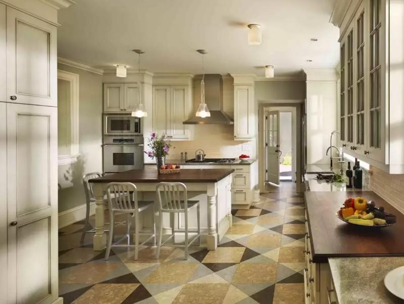 пробковый пол на кухне фото