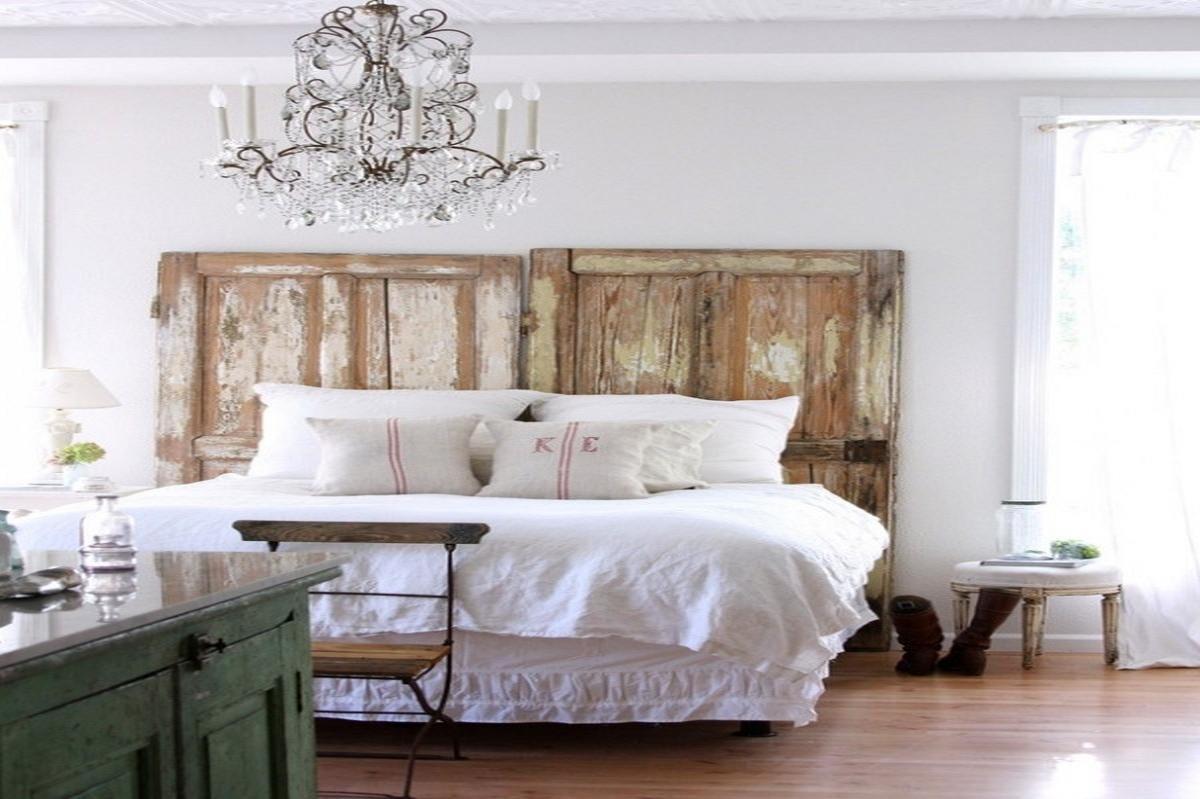 шебби шик в интерьере спальной комнаты
