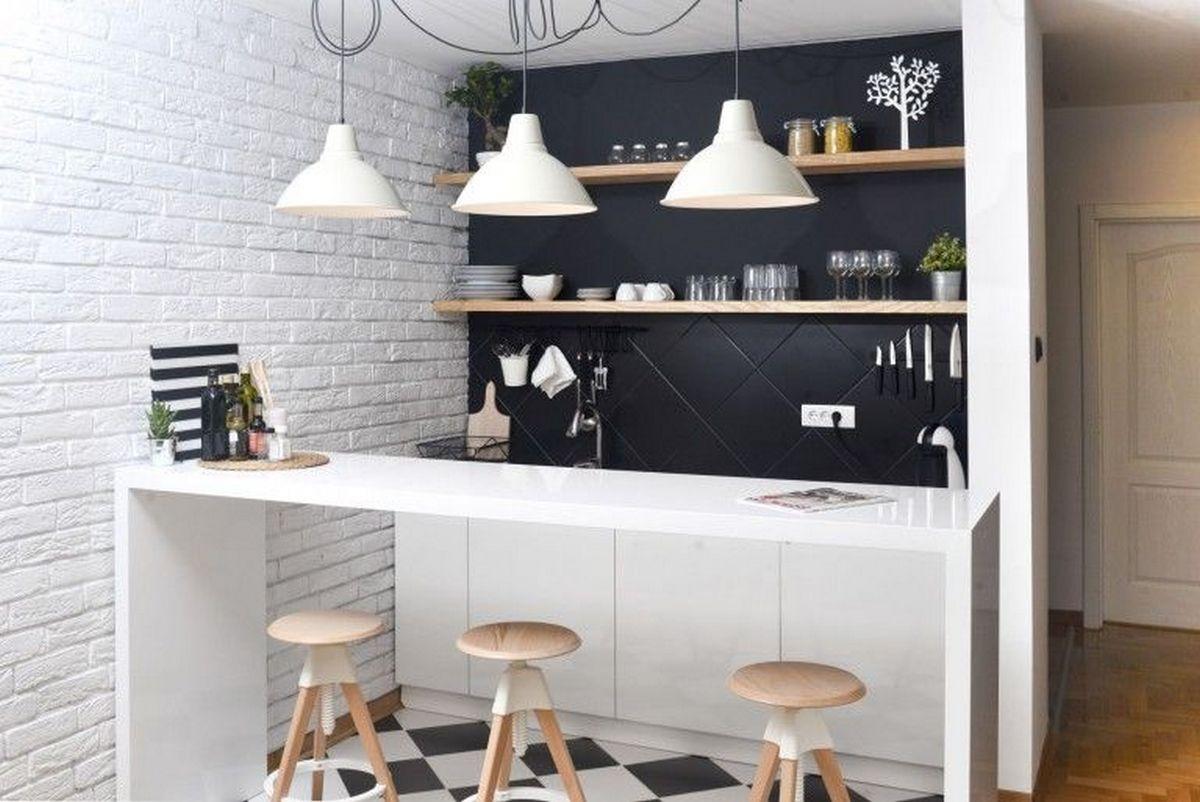 сочетания чёрного цвета в интерьере чёрная кухня студия