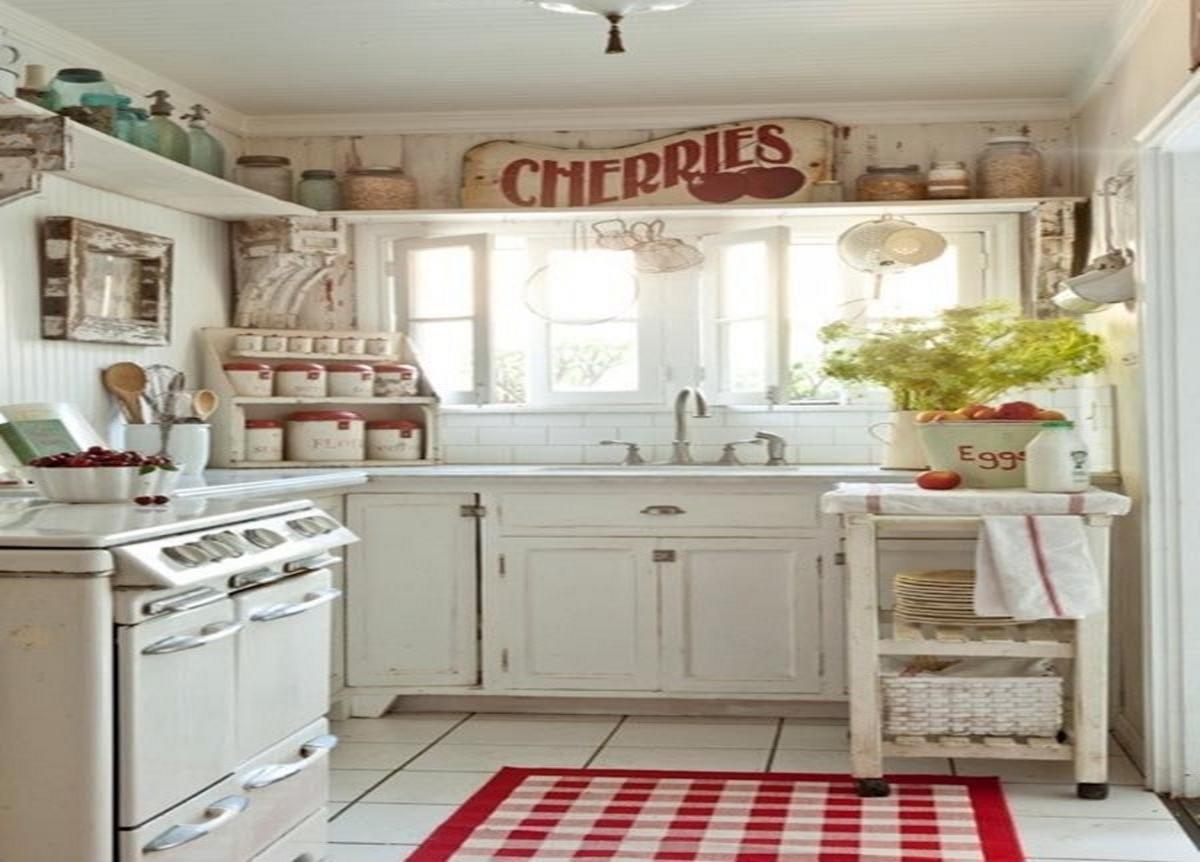 стиль шебби шик в интерьере кухня