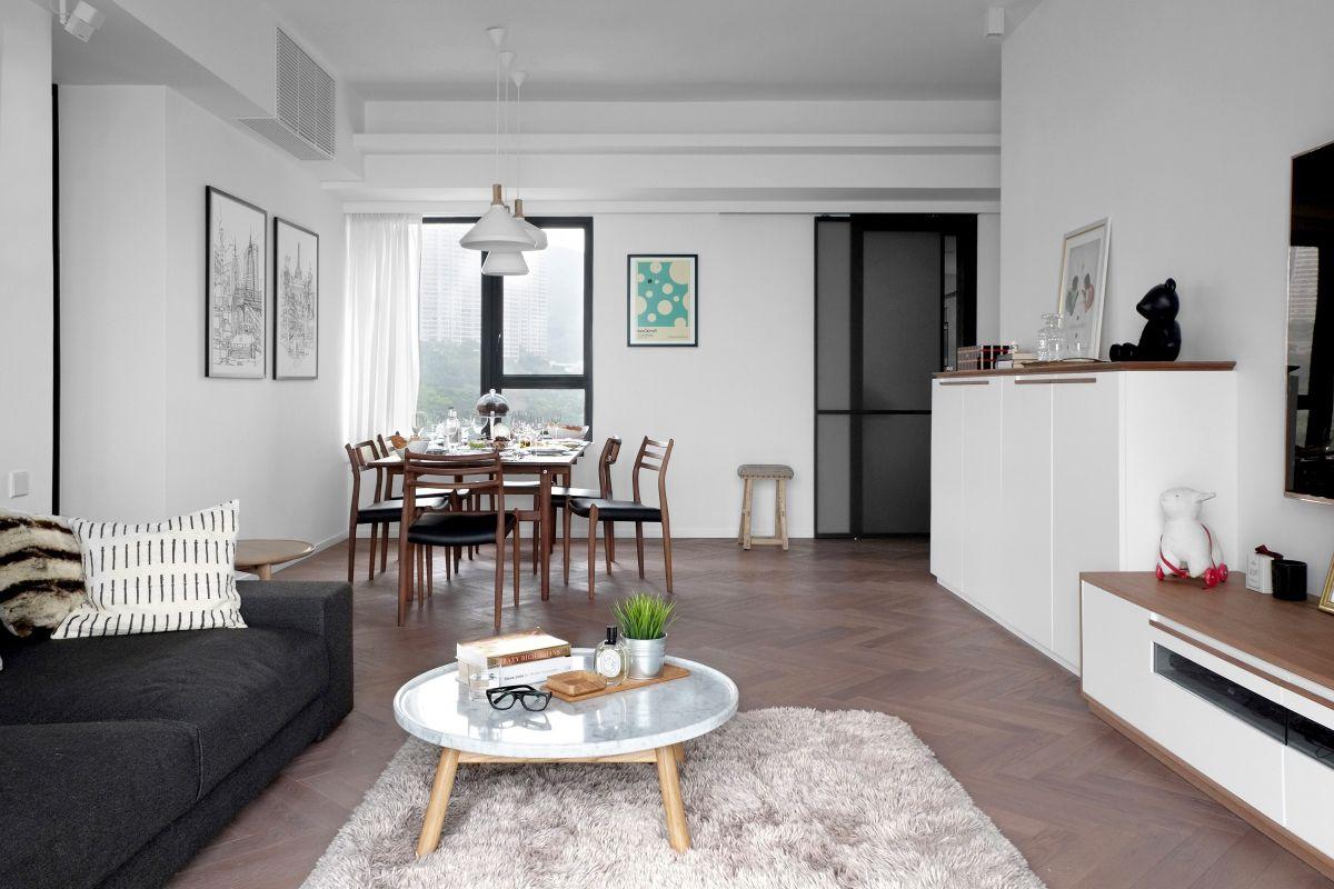 светлый дизайн маленькой квартиры студии