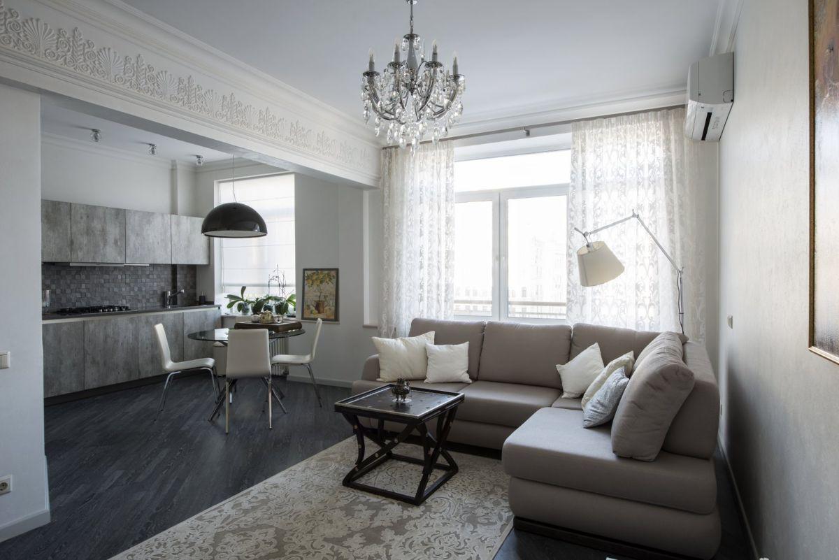 уютный интерьер маленькой квартиры элементы классики