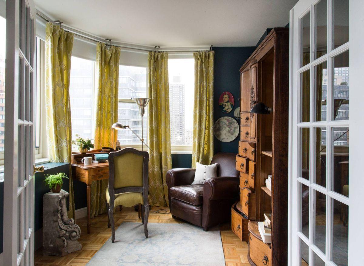винтаж в интерьере дома декорирование эркера