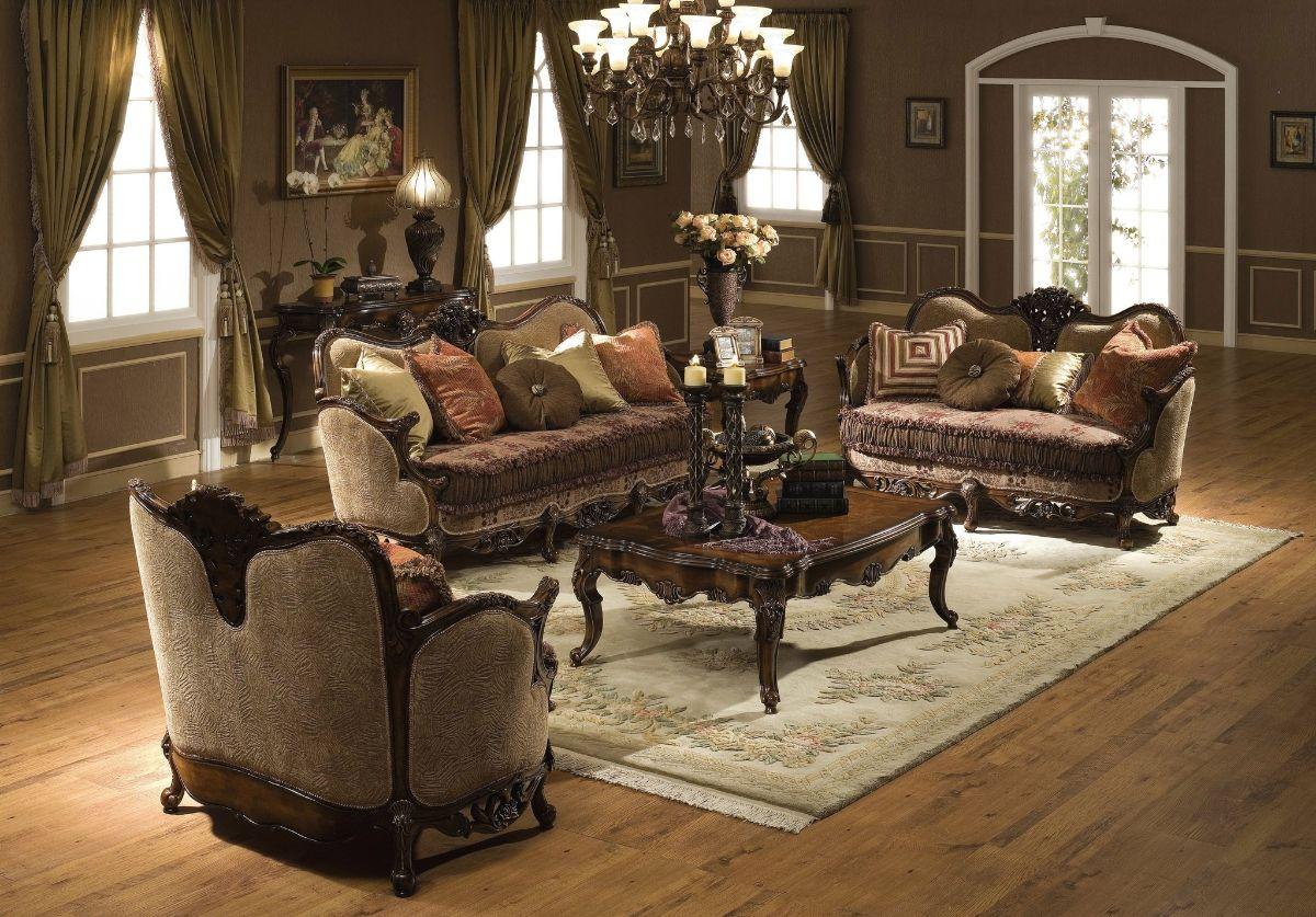 винтаж в интерьере дома гостинная с роскошной мебелью
