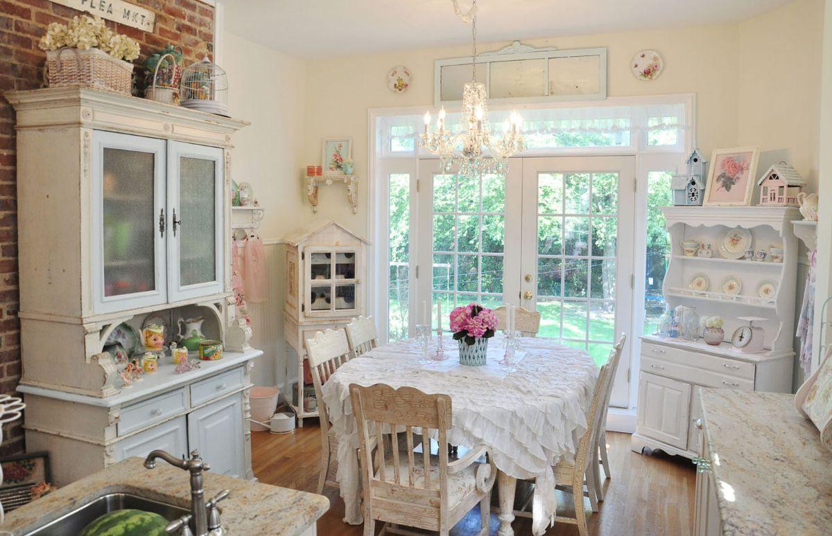 винтаж в интерьере дома кухонная мебель