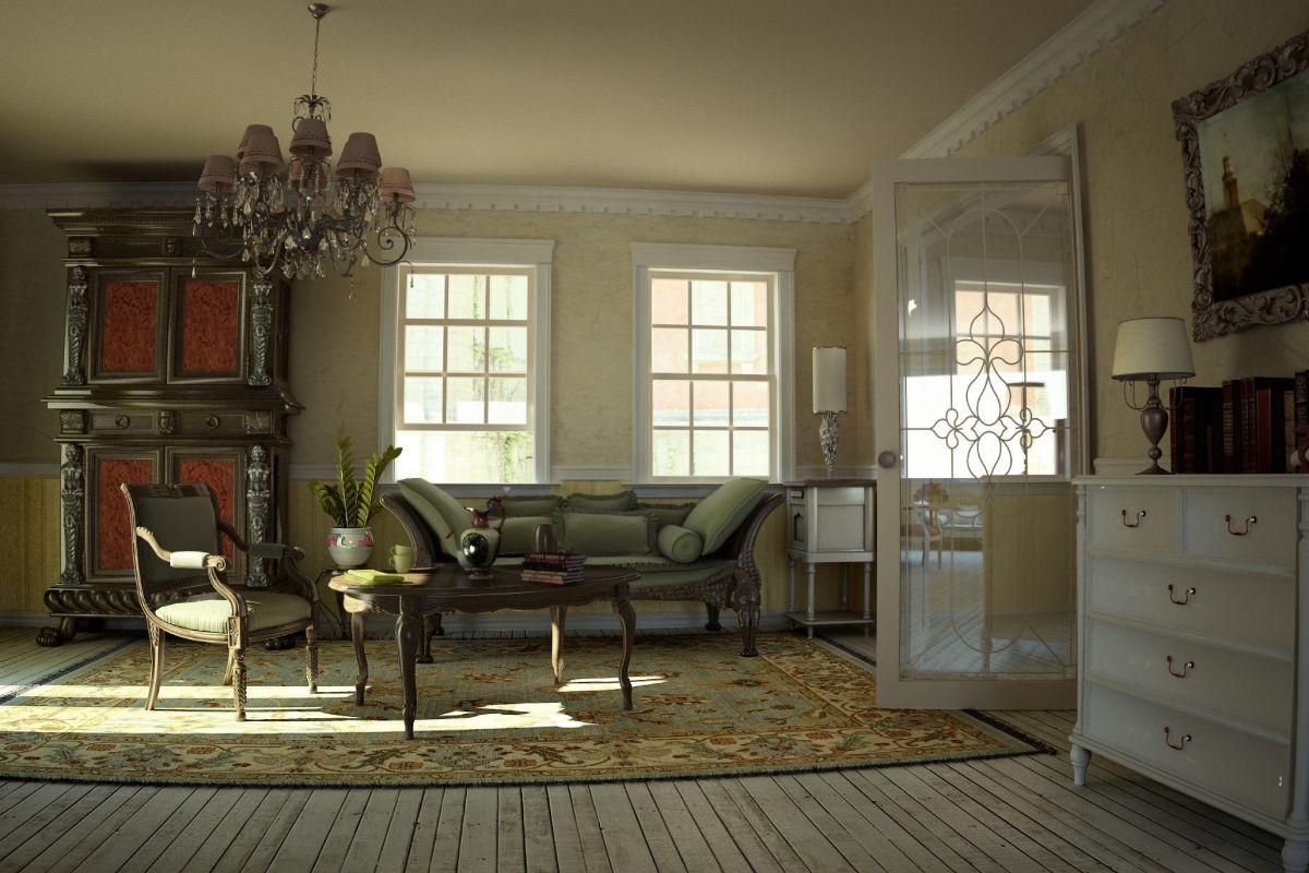 винтаж в интерьере дома нетривиальный дизайн гостиной