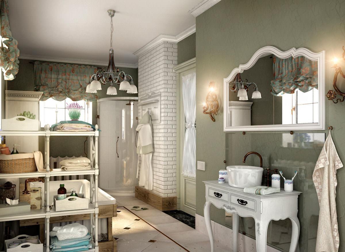 винтаж в интерьере дома оформление ванной комнаты