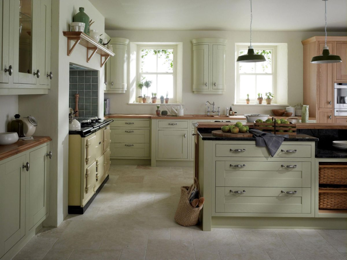 винтаж в интерьере дома светлый дизайн кухни