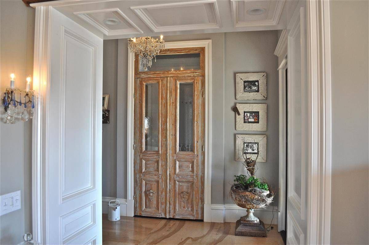 винтаж в интерьере дома светлые стены