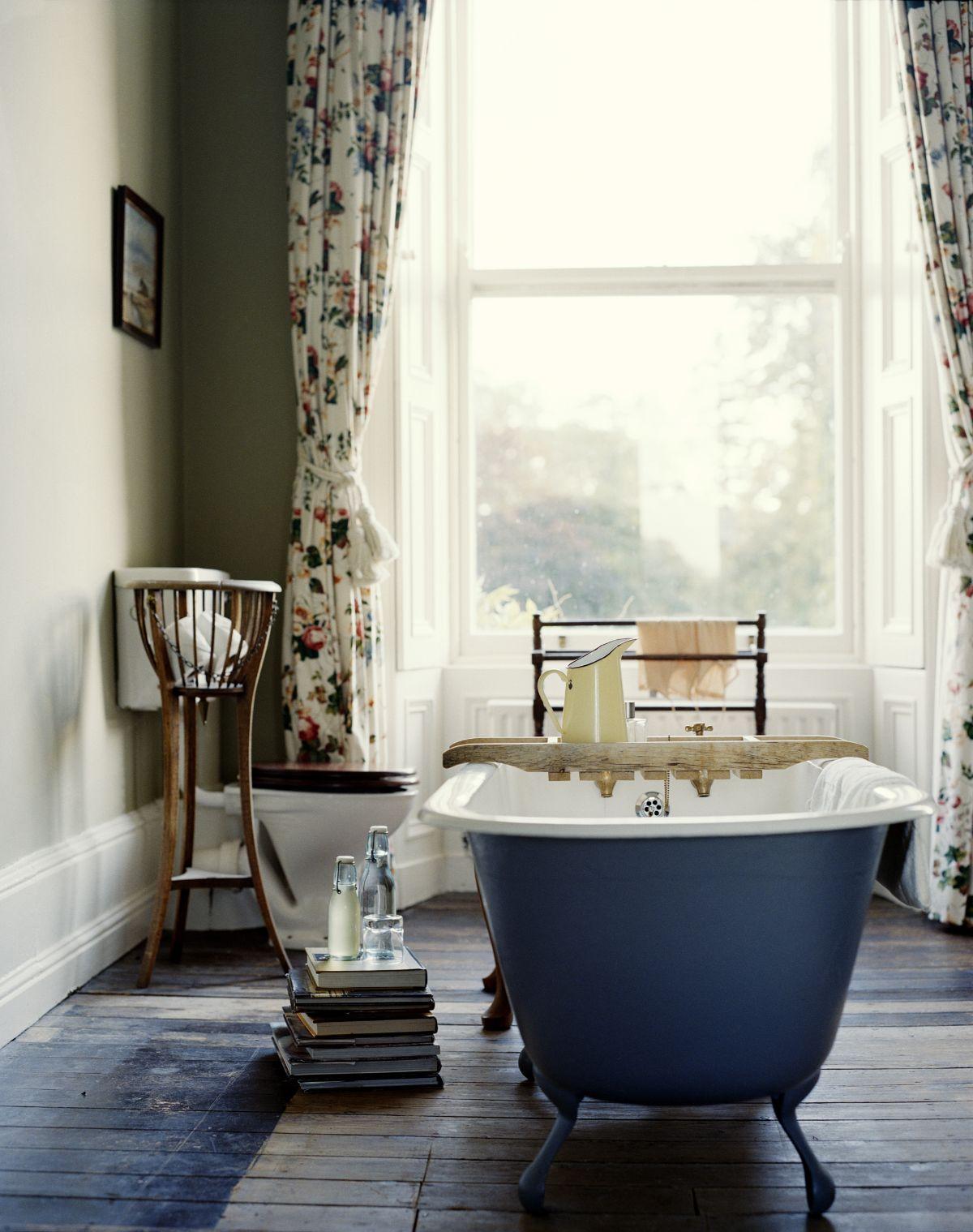 винтаж в интерьере дома ванная комната