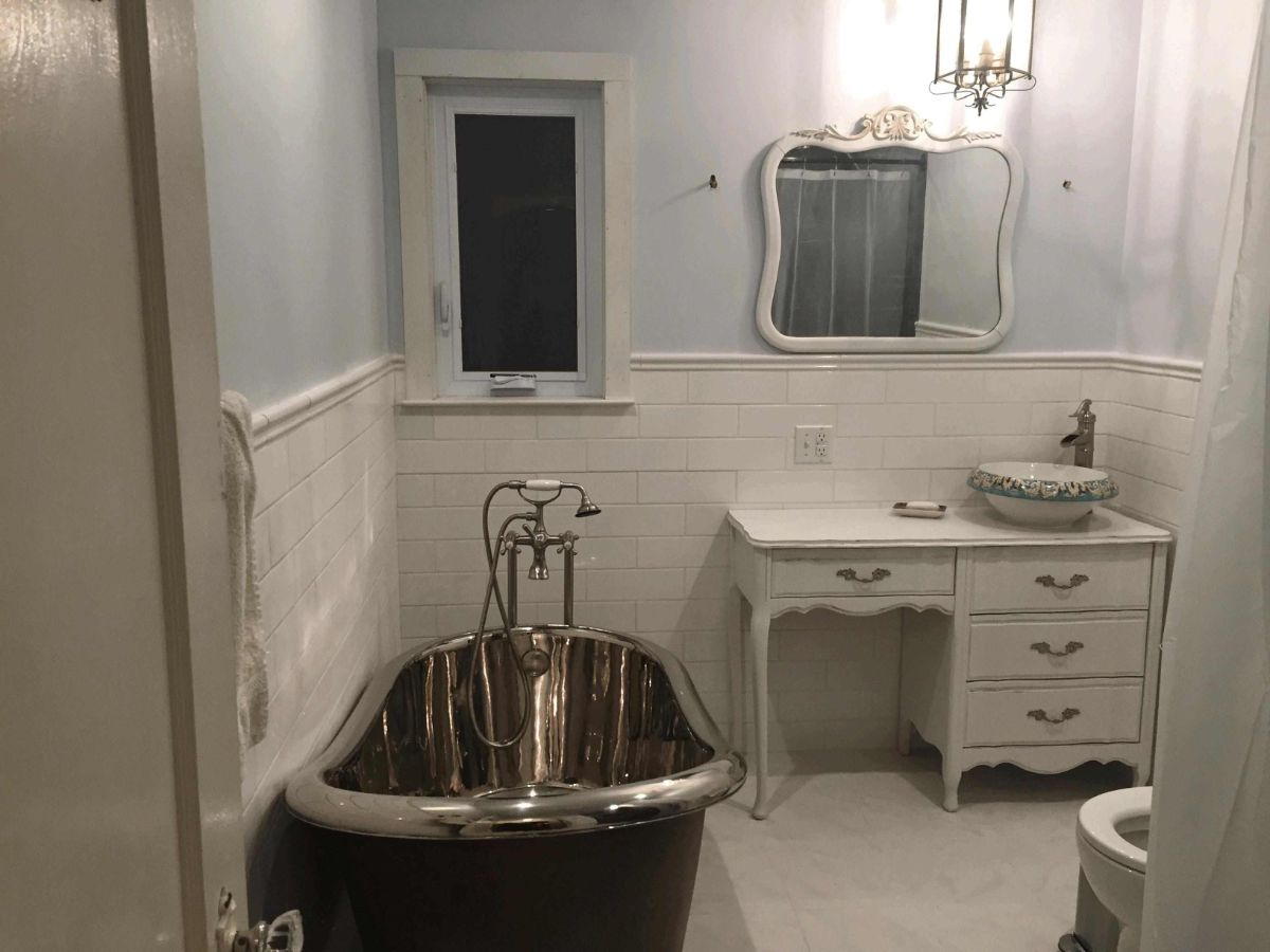 винтаж в интерьере дома ванная