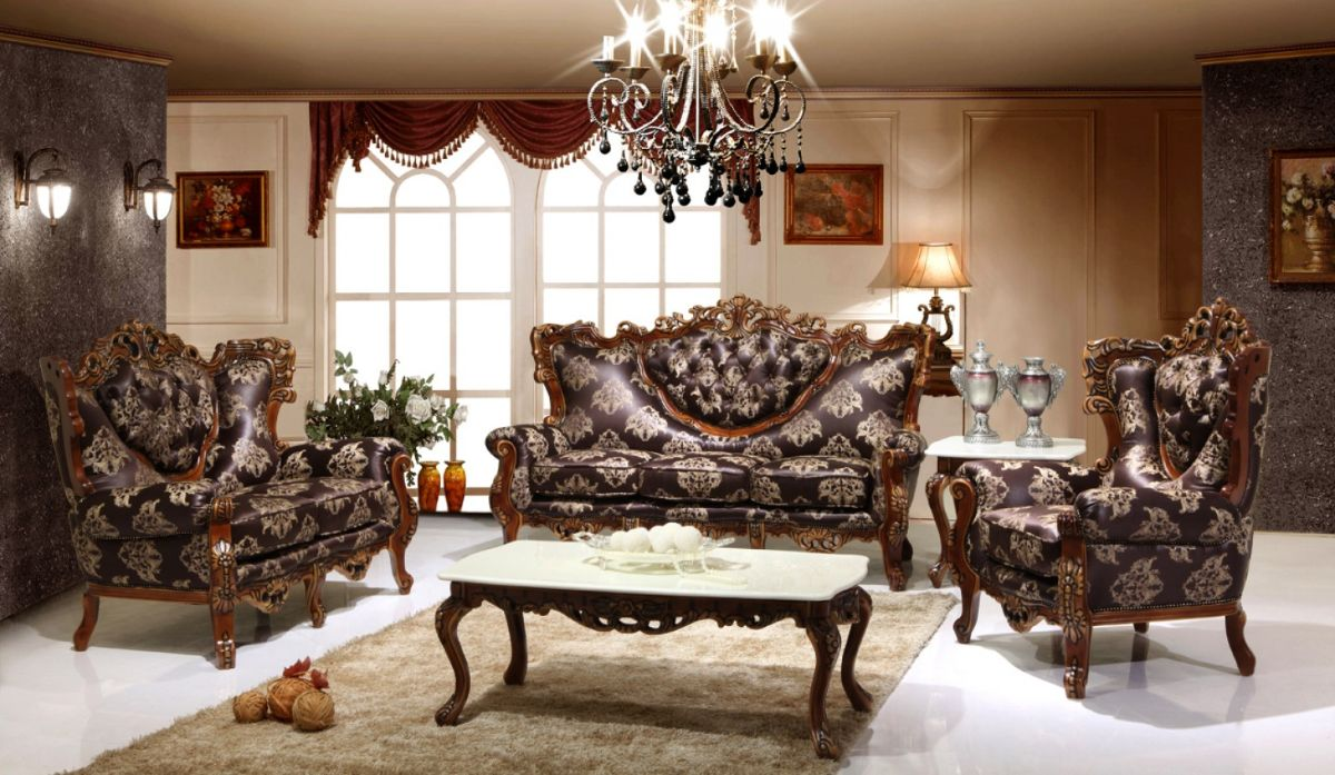 винтажный дизайн гостиной с эффектом мебели