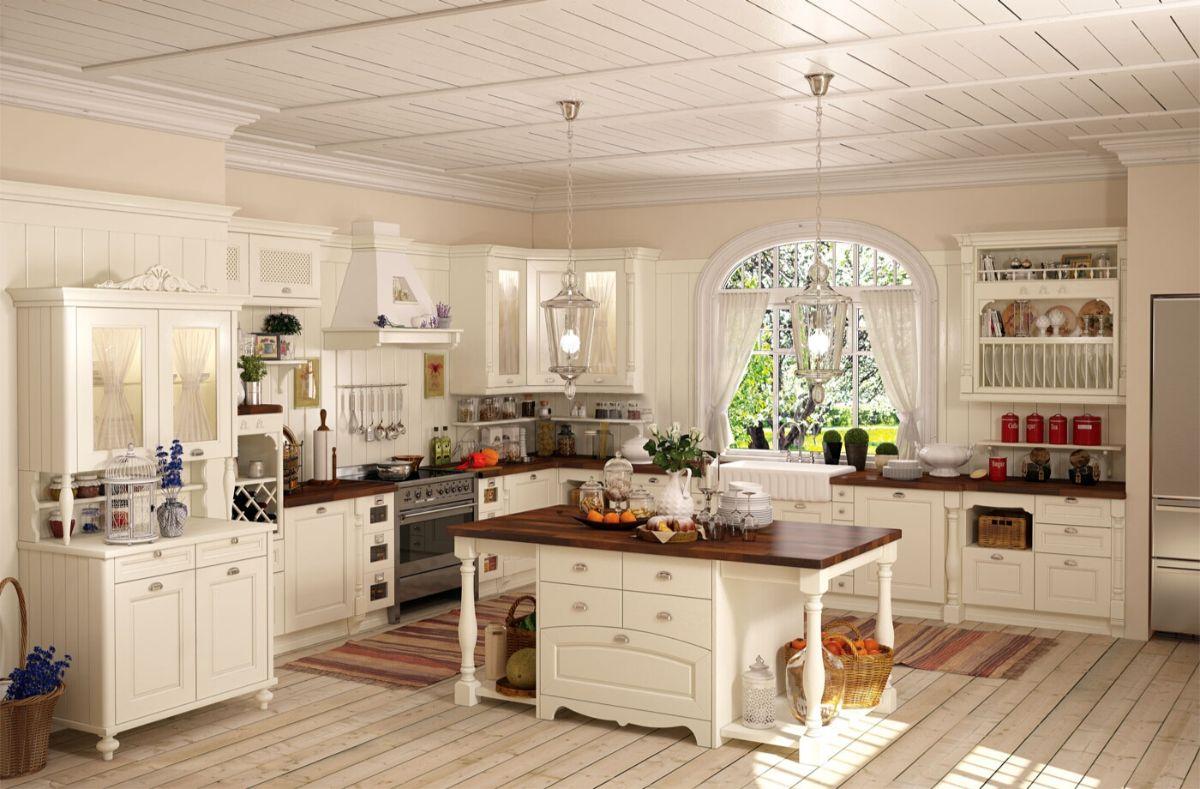 винтажный дизайн роскошной кухни
