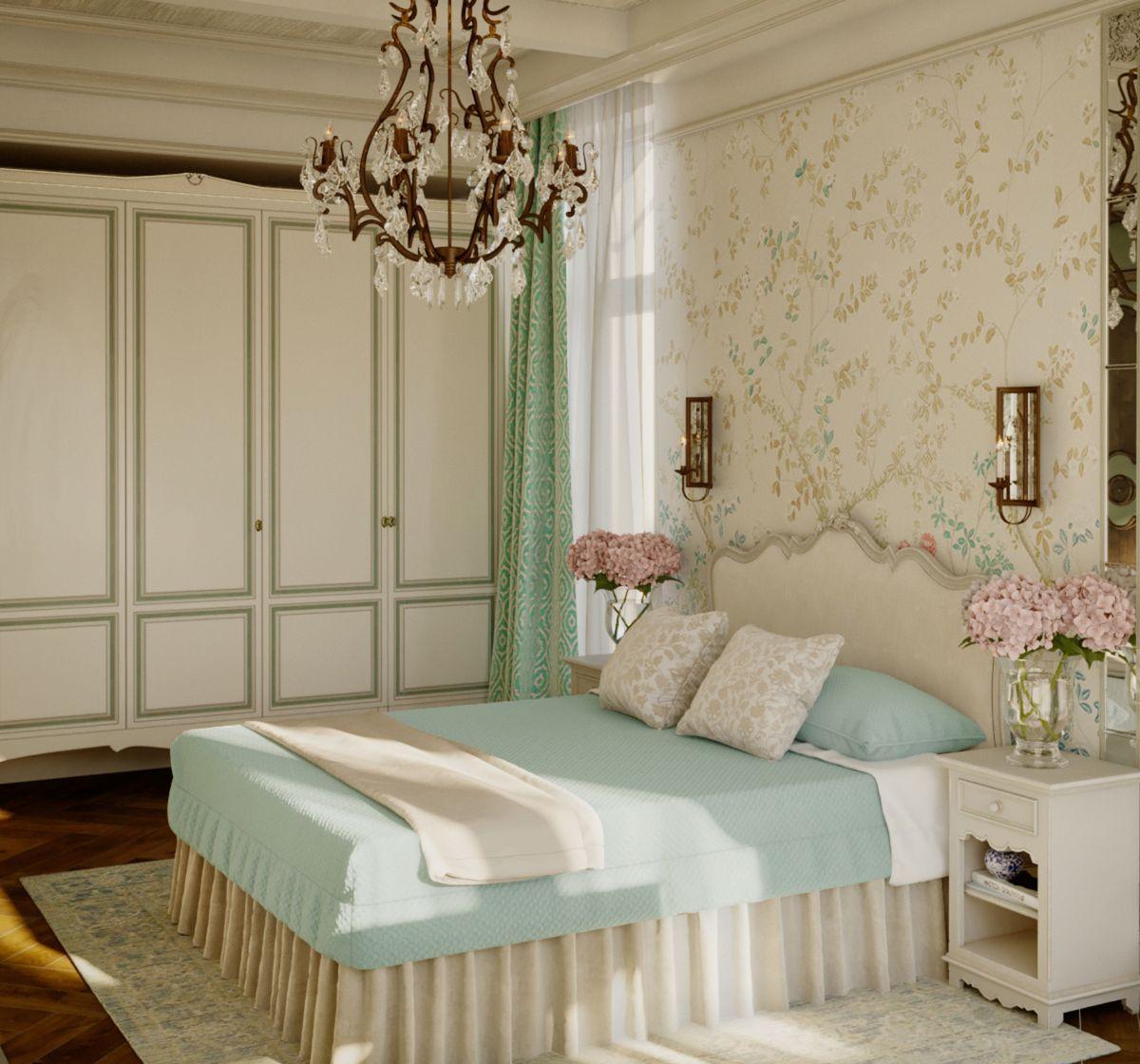 винтажный дизайн спальни