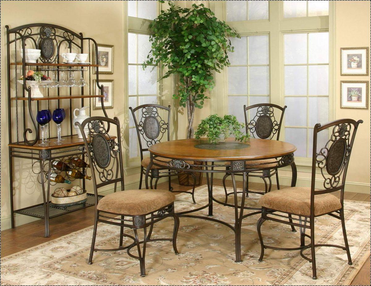 винтажный дизайн столовой кованная мебель