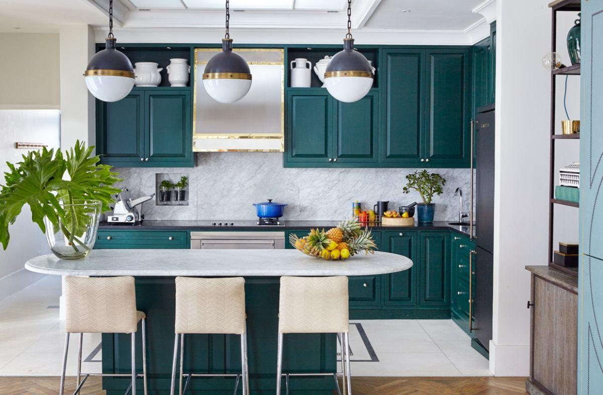 идеи дизайна узкой кухни