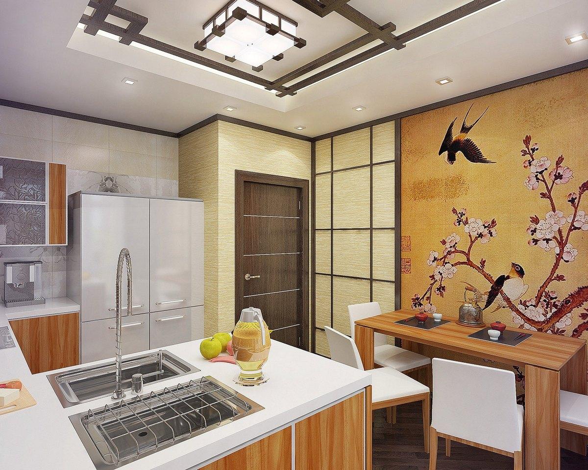 дизайн кухни в японском стиле особенности фото