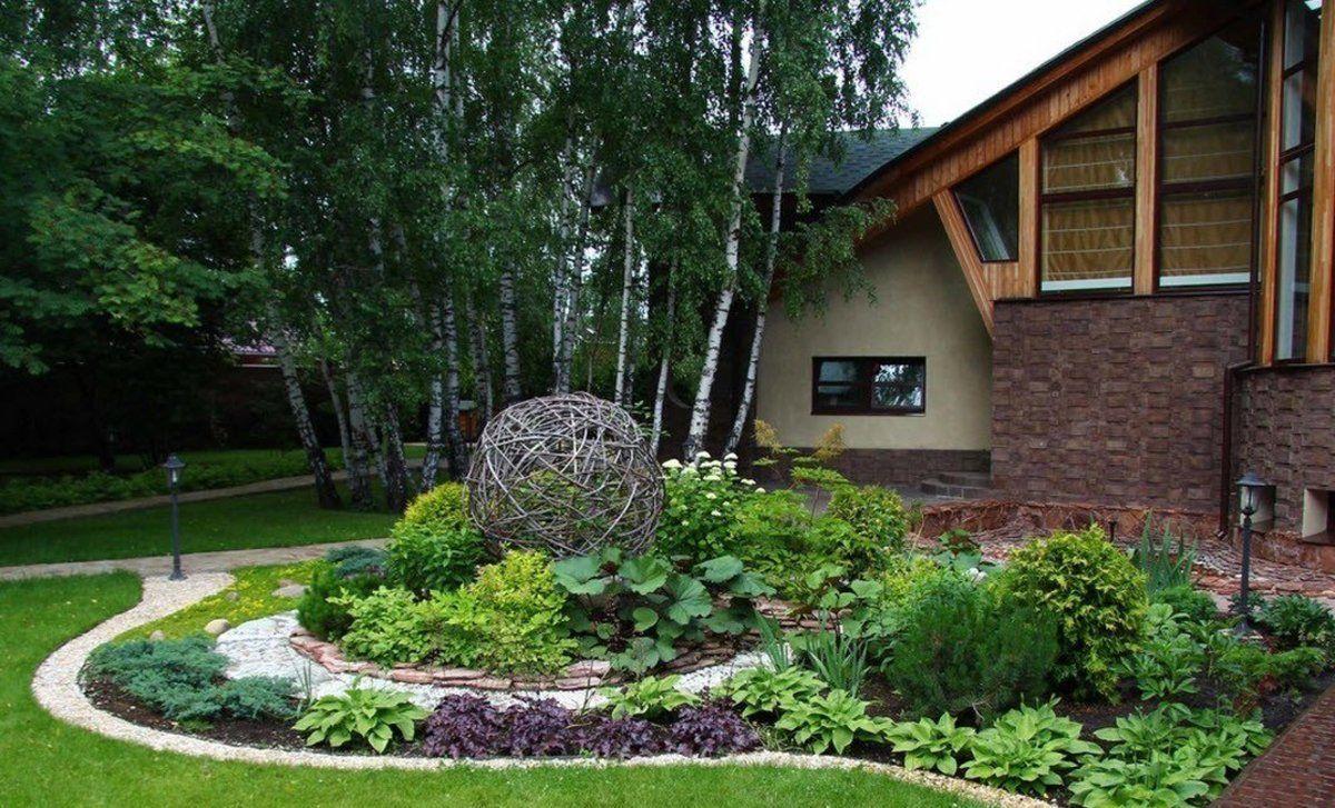 дизайн эффектного садового участка